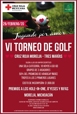 VI Torneo de Golf Cruz Roja Morelia